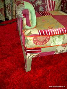 patchwork reupholstered chair loose covers in Huddlesfield